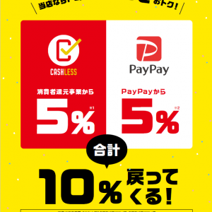 【PayPayの支払いで10%還元】